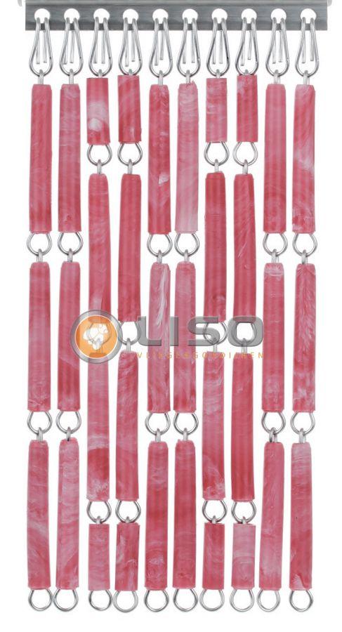 Liso ® Vliegengordijnen | Rood/Rose Gevlamd
