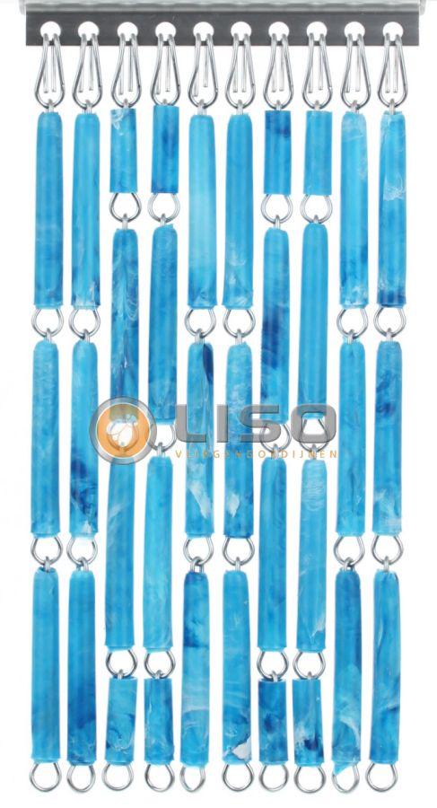 Liso ® Vliegengordijnen | Blauw Gevlamd