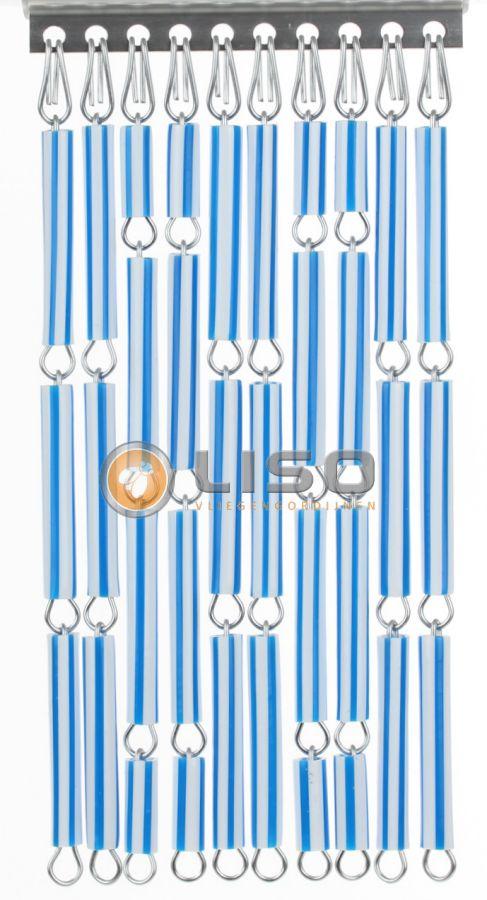 Liso ® Vliegengordijnen | Blauw/Wit Streep