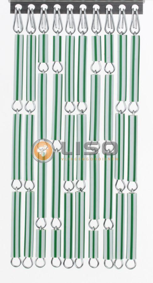 Liso ® Vliegengordijnen | Groen/Wit Streep